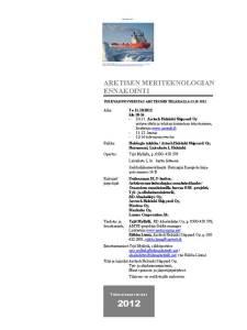 AMT-Tulevaisuusverstas 11.10.2012 Kutsu ja ohjelma