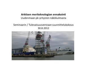 Yrjö Myllylä, Tulevaisuusverstas-esitelmä 11.10.2012