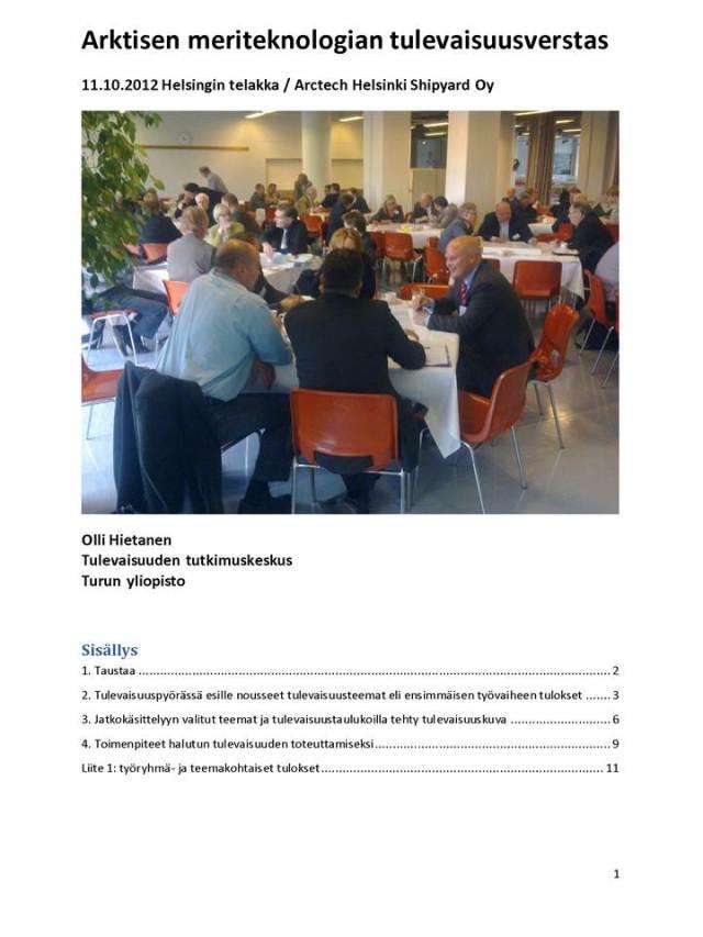 Tulevaisuusverstas 11.10.2012 -raportti, 291012