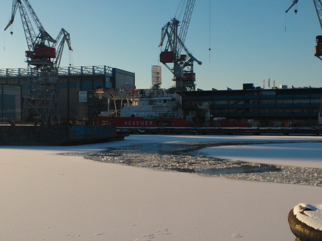 Baltika under contruction. Photo, Yrjö Myllylä, January 2014.